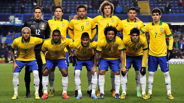 1.Brazil football team 2014
