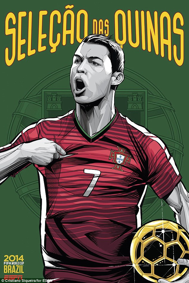 Cristiano Ronaldo points proudly to his chest in 'Seleção das Quinas' for Portugal
