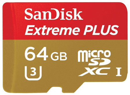 14. SanDisk 64GB Micro SDXC Memory Card With Adapter, Model: SDSDQX-064G-U46A
