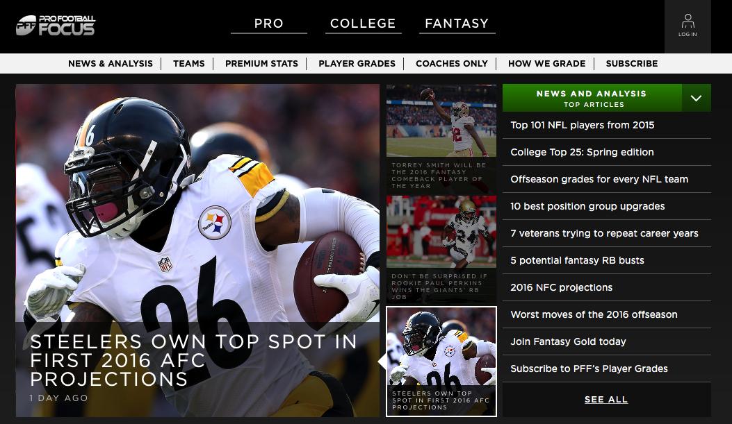 profootballfocus best nfl fantasy football rankings websites