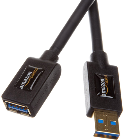 13. AmazonBasics USB 3.0 Extension Cable A-Male to A-Female-9.8 feet