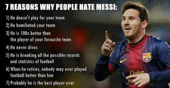 7 reasons why people hate Messi