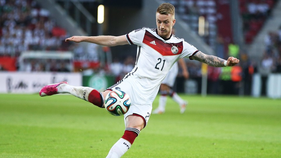 Marco Reus of Germany tries to score during the International Friendly match between Germany and Armenia at Coface Arena on June 6, 2014 in Mainz, Germany