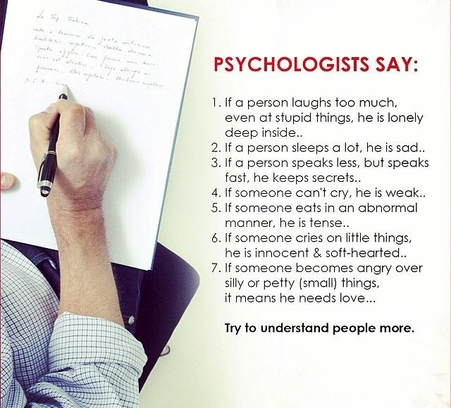 Try to understand people more