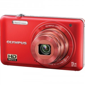 Olypus VG-160 14MP Digital Camera with 5x optical zoom (Red)