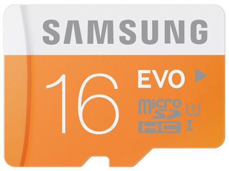 16. Samsung 16GB EVO Class 10 Micro SDHC with Adapter, Model: (MB-MP16DA/AM)