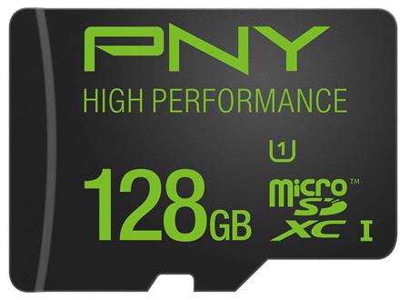 3. PNY High Speed Micro SDXC Flash Memory Card, Model: (P-SDUX128U160G-GE)