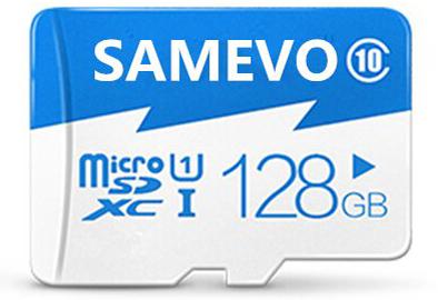 17. Samevo 128GB Micro UHS-I/Class 10 Card with SD Adapter