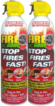 Fire Gone 2NBFG2704 White Red Fire Extinguisher