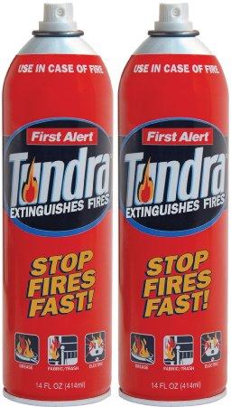 First Alert AF400 2 Tundra Fire Extinguisher Aerosol Spray Twin Pack