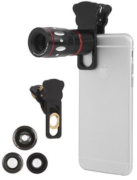19. Ivation Universal Smartphone Camera Lens Kit for iPhone 6 and 6 plus & All Smartphones
