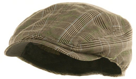 4. Fashion Plaid Ivy Cap W10S69F