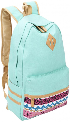 6.Leaper Causal Style Lightweight Canvas Cute Backpacks School Backpack