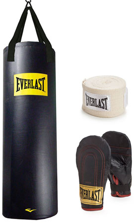 6. Everlast 100 lb. Heavy Bag Kit