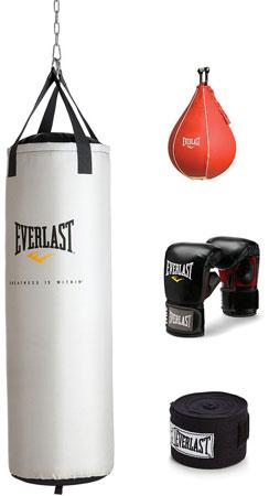 4. Everlast 70 lb. Platinum Heavy Bag Kit