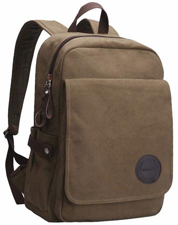 7. Zebella Vintage Canvas Laptop Backpack