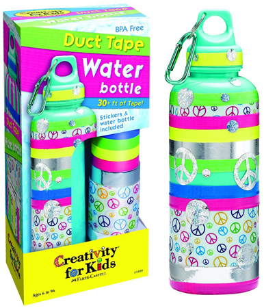 6. Duct Tape Water Bottle for Kids by Creativity for Kids