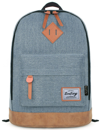 6. EcoCity Classic College Laptop Backpack Super Cute