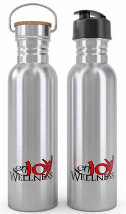 2. Custom Stainless Steel Water Bottle by enjoy Wellness