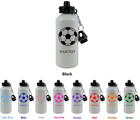 5. Personalized Soccer Ball Water Bottle by Engraved Cases