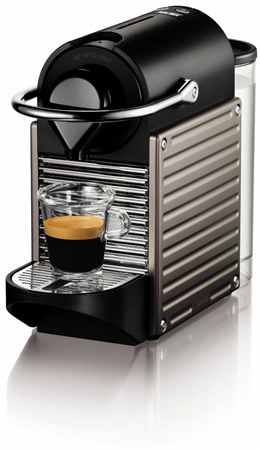 6. Nespresso Pixie Espresso Maker, Electric Titan