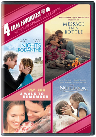 2. 4 Film Favorites: Nicholas Sparks (Message in a Bottle, Nights in Rodanthe, The Notebook, A Walk to Remember)
