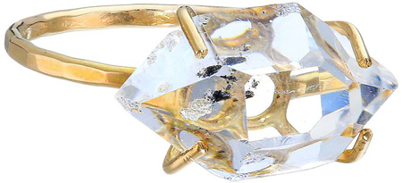 21. Melissa Joy Manning New Elements 14k Gold Herkimer Diamond Ring