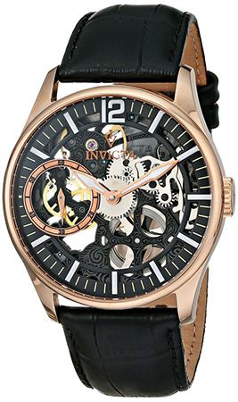 1. Vintage Rose Gold-Tone Mechanical Men's Watch by Invicta, Model 12408