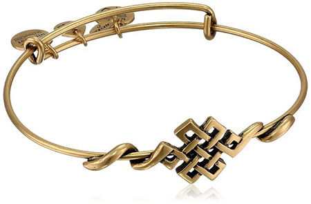 8. Alex and Ani Spiritual Armor Endless Knot Expandable Wire Bangle Bracelet