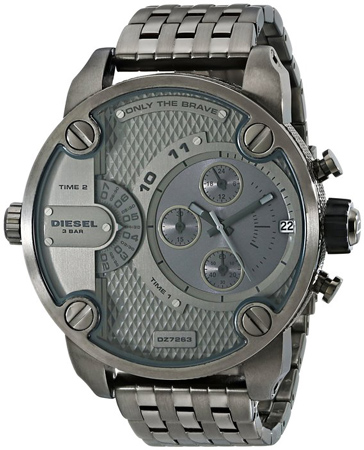 4. Diesel Men's Analog Quartz Gunmetal Watch