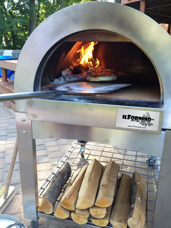 18. ilFornino® Stainless Steel Basic Wood Fired Pizza Oven