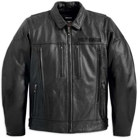 27. Harley-Davidson Men's Stone Leather Jacket Black 98037-12VM