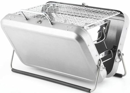 23. Kikkerland BQ01 Portable BBQ Suitcase, Black