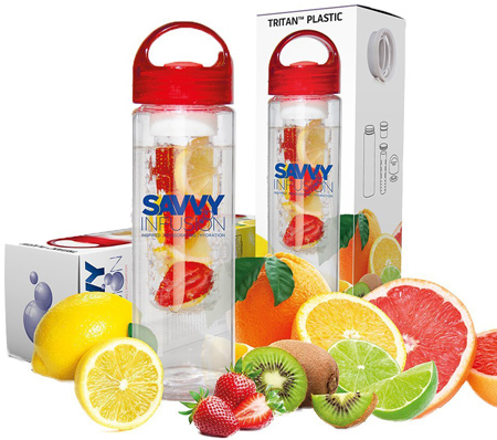 28. Savvy Infusion® Water Bottle Naturally Flavored Fruit Infused Water, Juice, Iced Tea