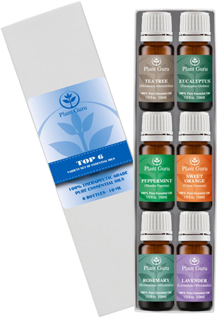 23. Essential Oil Variety Set - 6 Pack - 100% Pure Therapeutic