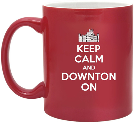 46. Downton Castle-Keep Calm And Downton On-11 Ounce Two Tone Ceramic Coffee Mug EXCLUSIVELY
