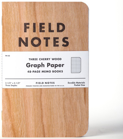 6. Field Notes Cherry Graph 3-Pack