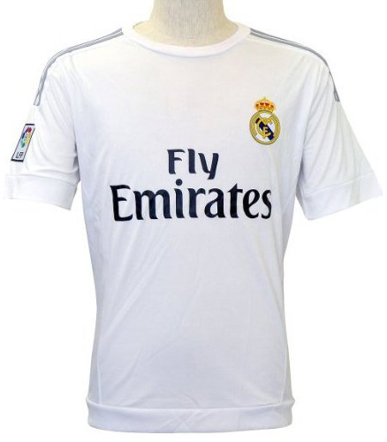 8. Real Madrid Short Sleeves Home Soccer Jersey
