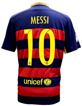 3. FC Barcelona Messi Home Soccer Jersey