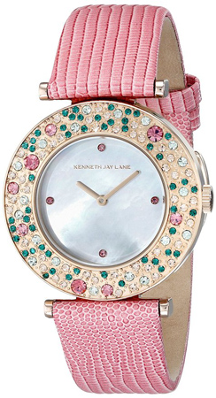 9. Aurora Watch for Women with Pink Leather Band by Kenneth Jay Lane