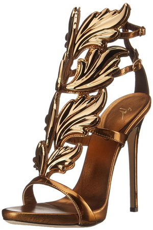17. Gold Leaf Strap Dress Sandal for Women by Giuseppe Zanotti