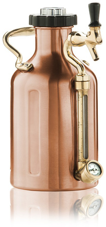 2. GrowlerWerks Ukeg 64 Copper Craft Beer Growler