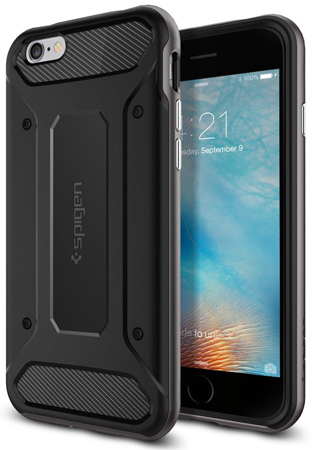 11. iPhone 6s Case, Spigen [Carbon Fiber]