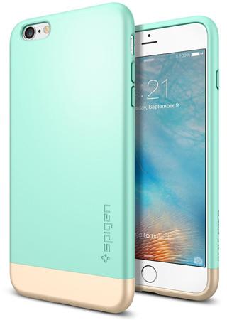 7. iPhone 6s Plus Case, Spigen® [Style Armor] Safe Slide [Mint]
