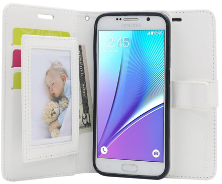 15. Note 5 Wallet Case with 5 Card Holders & kickstand
