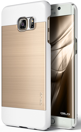 22. Galaxy S6 Edge Plus Case, OBLIQ [Slim Meta][Champagne/White]