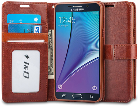 10. A Premium Note 5 Wallet Leather Cases or Covers