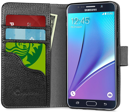3. Slim Leather Wallet For Your Samsung Galaxy Note 5