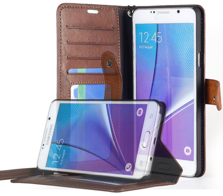 5. You'll Love This Galaxy Note 5 Wallet Made With Premium Leather.
