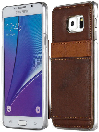 2. A Galaxy Note 5 Case, In Brown, We Give You A Slim Protective Leather Shield